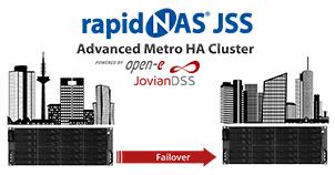 rapidNAS®JSS – Advanced Metro HA Cluster